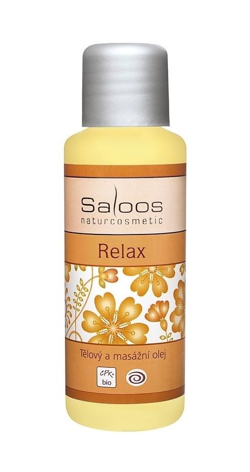 Saloos Bio Body and Massage Oil Relax - masažno olje za sprostitev pri duševni in fizični napetosti, 50ml
