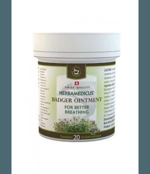 Herbamedicus Badger ointment - Jazbečeva mast, mazilo za lažje, boljše dihanje 50ml