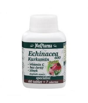 MedPharma Ameriški slamnik Forte + kurkuma + vitamin C + črni bezeg + cink, 60 tablet + 7 tablet GRATIS