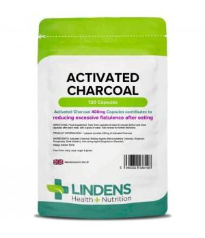Lindens Activated Charcoal 400mg - Aktivno oglje, 120 kapsul