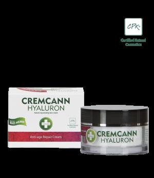 Annabis Cremcann Hyaluron naravna konopljina Anti-Age krema za obraz s hialuronsko kislino 50ml