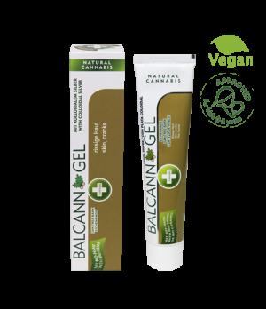 Annabis Balcann Oak Tree Bark konopljin gel z koloidnim srebrom in hrastovim lubjem za nego in obnavljanje kože, 75ml