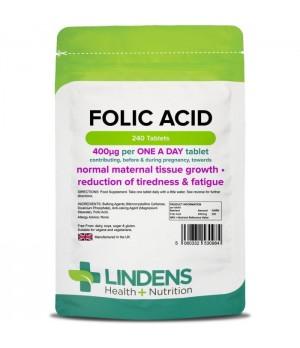 Lindens Folic Acid - folna kislina, 240 tablet