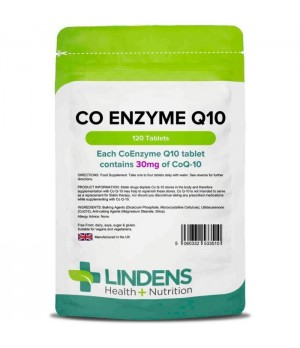 Lindens CoEnzyme Q10 - Koencim Q10 30mg  120 tablet