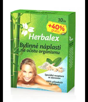 Herbalex zeliščni obliži za čiščenje telesa, 10 obližev + 4 obliži gratis