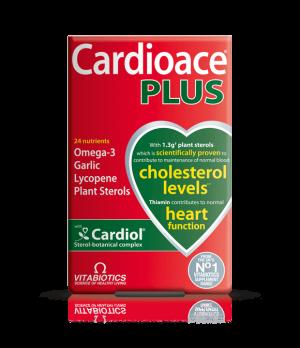 Vitabiotics Cardioace Plus - uravnavanje nivoja holesterola v krvi, 60 kapsul
