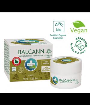 Annabis BIO Balcann organsko konopljino mazilo za nego suhe, hrapave in razpokane kože, 50ml