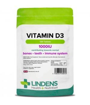 Lindens Vitamin D3 1000IU, 120 tablet