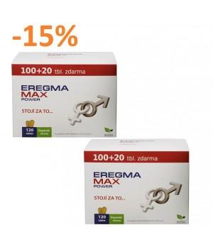 """2x 120 kapsul Natural Medicaments Eregma MAX Power - """"PODPORA SPOLNI MOČI"""""""